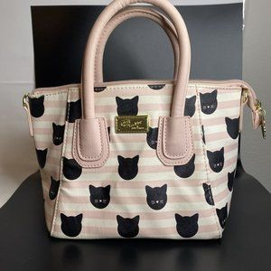 Luv Betsey By Betsey Johnson Pink Striped Cat Kitt